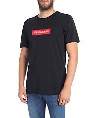 [관부가세포함][스프레이그라운드] Black T-shirt with contrasted logo (9100T001BLK)