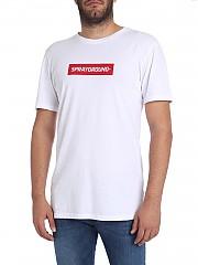 [관부가세포함][스프레이그라운드] White T-shirt with contrasted logo (9100T001WHT)