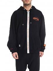 [관부가세포함][에르노 라미나르] Black Heron Preston printed sweatshirt (HMBE001S196330441091)