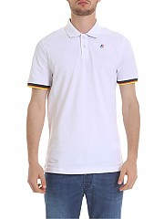 [관부가세포함][케이웨이] Vincent polo in white pure cotton (K008J50 K01)