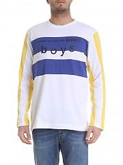 [관부가세포함][꼼데가르송 셔츠 보이즈] White long sleeve t-shirt (S27931-1)