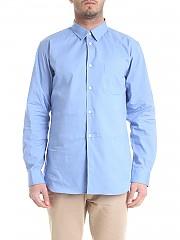 [관부가세포함][꼼데가르송 셔츠 보이즈] Light blue shirt with patch pocket (S27906 AZZURRO)