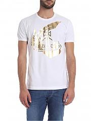 [관부가세포함][비비안웨스트우드 앵글로매니아] Arm & Cutlass 크루넥 티셔츠 in white (26010017-20461 A401.)