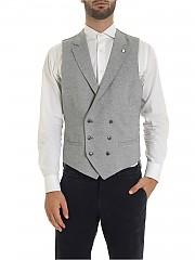 [관부가세포함][루비암1911] Harringbone vest in gray (1471 95078/1)