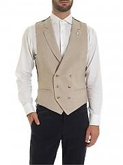 [관부가세포함][루비암1911] Harringbone beige and brown vest (1471 95078/4)