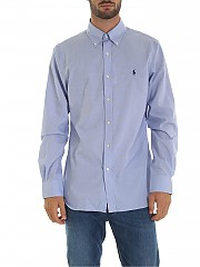 [관부가세포함][랄프로렌] Light blue 남성 셔츠 with logo embroidery (712722192001)
