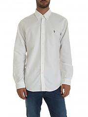 [관부가세포함][랄프로렌] White 남성 셔츠 with logo embroidery on the chest (710549084006)
