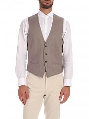 [관부가세포함][루비암1911] FW19 Dove-gray 남성 베스트 with pockets (1475 95143/6)