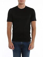 [관부가세포함][지제냐] SS20 남성 새틴 저지 반팔 티셔츠 (VU348 ZZ641 K09)