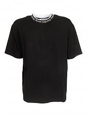[관부가세포함][아크네스튜디오] FW20 남성 반팔 티셔츠 (BL0221 BLACK)