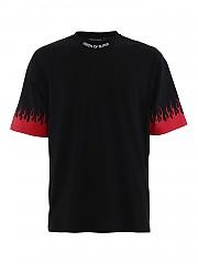 [관부가세포함][비젼 오브 슈퍼] FW20 남성 반팔 티셔츠 (B1FLRED BLACK)