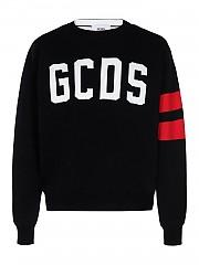 [관부가세포함][GCDS] FW20 남성 니트 스웨터 (CC94M021151 BLACK)