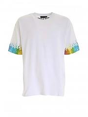 [관부가세포함][비젼 오브 슈퍼] FW20 남성 반팔 티셔츠 (W1FLRAINBOW WHITE)