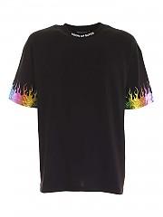 [관부가세포함][비젼 오브 슈퍼] FW20 남성 반팔 티셔츠 (B1FLRAINBOW BLACK)
