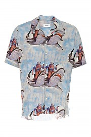 [관부가세포함][루드] FW20 남성 반팔 셔츠 G(08PF20073 BLUMULTI)