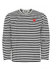 [관부가세포함][꼼데가르송 플레이]  남성 티셔츠 G(P1T164 001)
