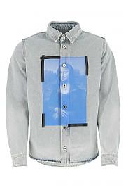 [관부가세포함][오프화이트] SS21 남성 셔츠 G(OMYD027R21DEN001 4001)