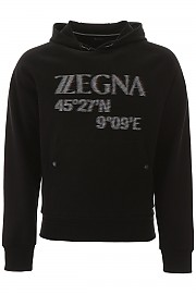 [관부가세포함][에르메네질도 제냐] (VU458 ZZ862O 7O1) SS20 남성 z zegna hooded 스웨트셔츠 with logo