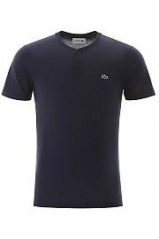 [관부가세포함][라코스테] (TH0884 AB 166M) SS20 남성  henley 티셔츠 with logo patch