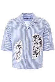 [관부가세포함][괴체] (SS20TED05A BLWHT) SS20 남성 반팔 셔츠