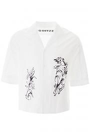 [관부가세포함][괴체] (SS20TED07 WHITE) SS20 남성 반팔 셔츠