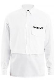 [관부가세포함][괴체] (SS20GEO01 WHITE) SS20 남성 셔츠
