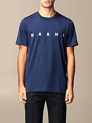 [관부가세포함][마르니] (HUMU0170PO 00B84)  Winter 20 남성 티셔츠 men  navy