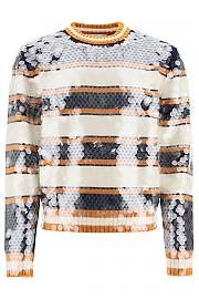 [관부가세포함][랑방] (RMPO0201MV08H20 2902) FW20 남성  striped 스웨터 with sequins