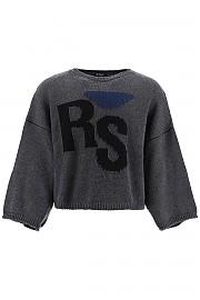 [관부가세포함][라프시몬스] (202 843 50020 0080) FW20 남성  rs intarsia 스웨터