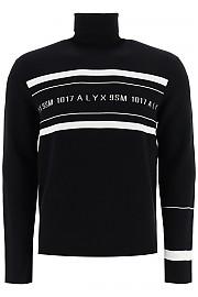 [관부가세포함][알릭스] (AAMKN0079YA01 BLACK) FW20 남성  turtleneck 스웨터 logo intarsia