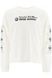 [관부가세포함][핍스] (PHFW20 N03 WHITE) FW20 남성  smokey fire safety 티셔츠