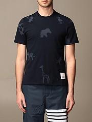 [관부가세포함][톰브라운] (MJS101A 06925 415)  Winter 20 남성 티셔츠 men thom e navy