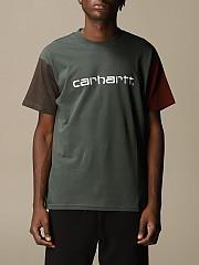 [관부가세포함][칼하트] (I02835903 0F2.00)  Winter 20 남성  cotton 티셔츠 with two-tone sleeves