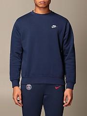 [관부가세포함][나이키] (BV2662 410)  Winter 20 남성  cotton 스웨트셔츠 with logo navy