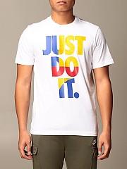 [관부가세포함][나이키] (CU7385 100)  Winter 20 남성  cotton 티셔츠 with just do it. writing