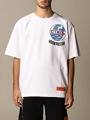 [관부가세포함][헤론 프레스톤] (HMAA019F20JER001 0110)  Winter 20 남성  티셔츠 in cotton with logo