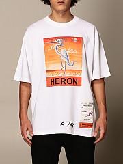 [관부가세포함][헤론 프레스톤] (HMAA019F20JER015 0120)  Winter 20 남성  cotton 티셔츠 with heron print
