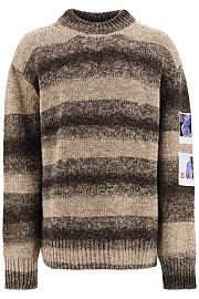 [관부가세포함][라프시몬스] (202 839 50017 6018) FW20 남성  striped 스웨터 with polaroid patches