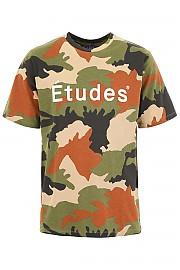 [관부가세포함][ETUDES] (WONDER ETUDES CAMO CAMO) SS19 남성 반팔 티셔츠