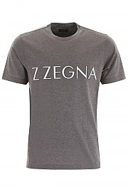 [관부가세포함][에르메네질도 제냐] (VT371 ZZ631 K97GF) FW19 남성 z zegna logo 티셔츠