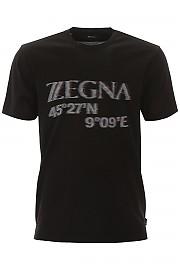 [관부가세포함][에르메네질도 제냐] (VU372 ZZ630O 6O1) SS20 남성 z zegna maxi logo 티셔츠