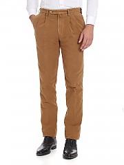 [관부가세포함][로타스포츠] Brown trousers with pleated front panels (582/2/C 02500/193)