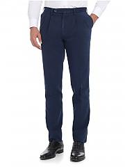 [관부가세포함][로타스포츠] Melange blue trousers with pleated front panels (582/2/C 02534/157)