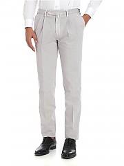 [관부가세포함][로타스포츠] Melange grey trousers with pleated front panels (582/2/C 02534/046)