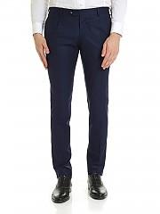 [관부가세포함][루비암1911] FW19 Slim fit 남성 팬츠 in blue wool (8421 93512/8)