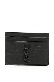[관부가세포함][생로랑] (485631 C9H0U 1000) FW20 남성  monogram croc-print leather cardholder