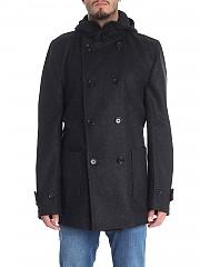 [관부가세포함][꼼데가르송 셔츠 보이즈] Dark grey double-breasted coat (W26911 2)