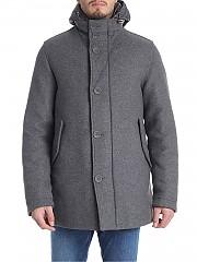[관부가세포함][에르노] Grey wool coat with quilted details (PC0084U 39601 9430)