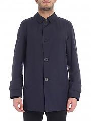 [관부가세포함][에르노 라미나르] Gorotex blue coat with hat (IM010UL 11101 9201)
