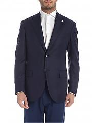 [관부가세포함][루이지 비앙키 만토바] Lightweight jacket in melange blue (2406 92622/3)